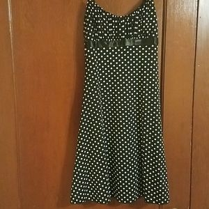 Love Tease Dress black and white polka dots size S
